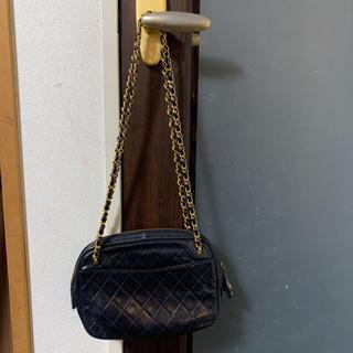 シャネル(CHANEL)の美品❣️CHANEL ショルダーバッグ マトラッセ 黒 ラムスキン(ショルダーバッグ)