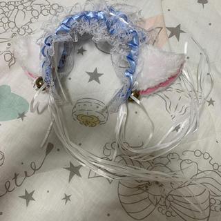 ねこみみカチューシャ ブルー&ホワイト(小道具)