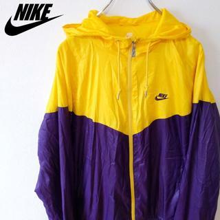 ナイキ(NIKE)の【NIKE】ナイキ  ナイロンジャケット ナイロン 黄×紫(ナイロンジャケット)