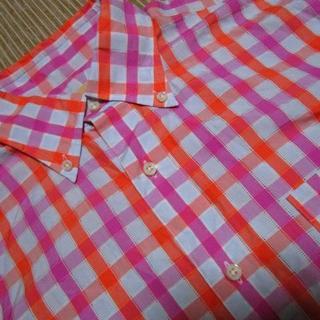オアグローリー(or Glory)のスティアンコル チェック プルオーバー半袖シャツ 日本製(シャツ)