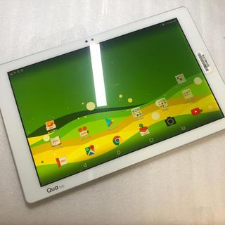 アンドロイド(ANDROID)のau Qua tab PZ LGT32 ホワイト ジャンク aki212(タブレット)