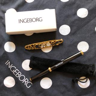インゲボルグ(INGEBORG)のインゲボルグ ノベルティーのブローチとリップペンシル(ブローチ/コサージュ)
