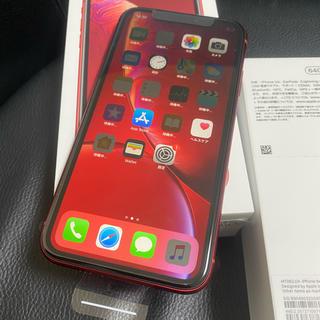 アイフォーン(iPhone)の赤ロム新品iPhoneXR/MT062J/A/64GB/レッド(スマートフォン本体)