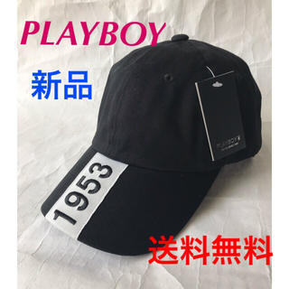 PLAYBOY - ❣️PLAY BOY ツイルキャップ❣️ワッペン刺繍.BLACK1点のみ