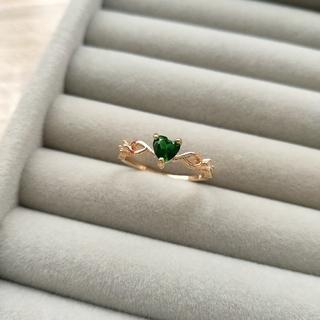 グリーン ハート リング 指輪 20号(リング(指輪))