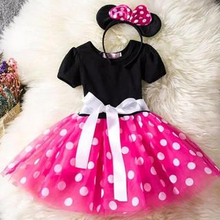 ディズニー(Disney)のミニー チュールワンピース なりきり ドレス 衣装 コスプレ(ドレス/フォーマル)
