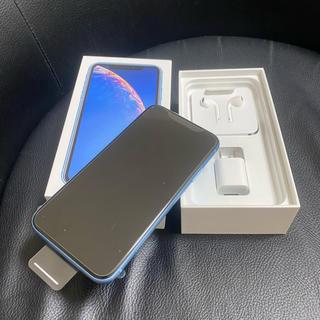 アイフォーン(iPhone)のiPhoneXR64G赤ロムブルー(スマートフォン本体)
