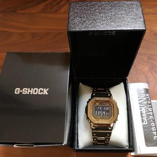 ジーショック(G-SHOCK)のCASIO gショック ゴールド フルメタル ステンレス 送料込み 極美品(腕時計(デジタル))