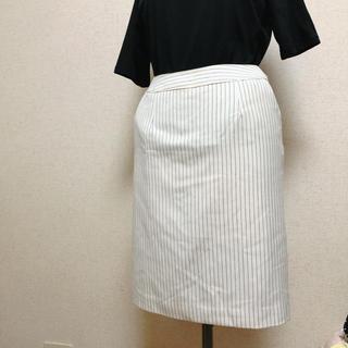 アルファキュービック(ALPHA CUBIC)のストライプタイトスカート♡Mサイズ(ひざ丈スカート)