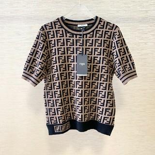 フェンディ(FENDI)のFendiフェンデイ  ニット  Tシャツ  スカート セット  半袖 M(カットソー(半袖/袖なし))