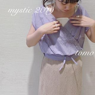 ミスティック(mystic)の新品❁ミスティック カシュクールレースブラウス(シャツ/ブラウス(半袖/袖なし))