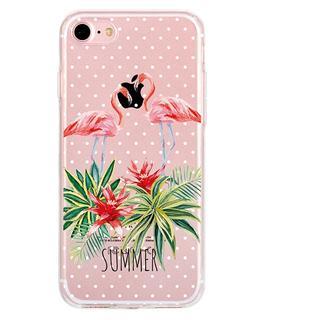 iPhone6 iPhone6s 可愛い フラミンゴ ソフトケース(iPhoneケース)