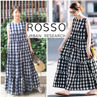 URBAN RESEARCH ROSSO - 昨年完売☆urban research rosso ギンガムチェックワンピース
