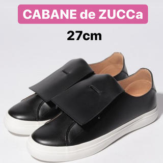 カバンドズッカ(CABANE de ZUCCa)のZucca キルトスニーカー メンズ 27cm ブラック 2019SS(スニーカー)