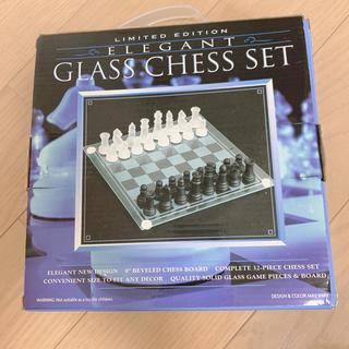 ガラス チェスセット(オセロ/チェス)