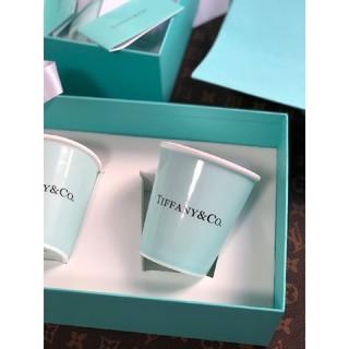Tiffany ティファニーボーンチャイナペーパーカップ2個セット紙コップ