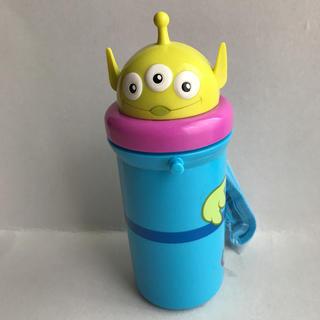 ディズニー(Disney)のディズニー リトルグリーンメン ダイカット 保冷プッシュオープン式ストローボトル(水筒)