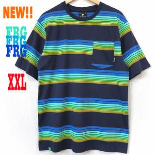 新品 LRG ボーダー ポケット Tシャツ マルチカラー(Tシャツ/カットソー(半袖/袖なし))