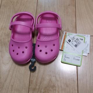 crocs - 【crocs】ピンク サンダル(C9/16.5㎝) タグ付新品