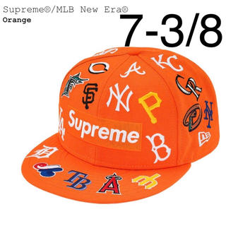 Supreme - 20ss Supreme MLB New Era Cap オレンジ 7-3/8
