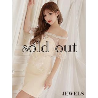 ジュエルズ(JEWELS)の新品 チュールペプラム ドレス(ミニワンピース)