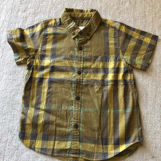 BURBERRY - バーバリー チルドレン キッズ 4歳 男の子 シャツ 半袖 ノバチェック