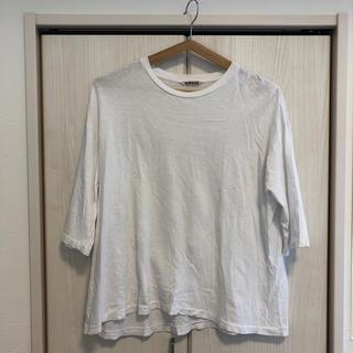 コモリ(COMOLI)のAURALEE  白Tシャツ(カットソー(長袖/七分))