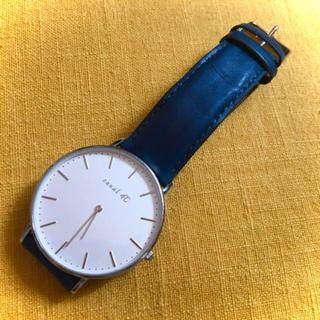 カナルヨンドシー(canal4℃)のcanal 4℃ ネイビー 革 腕時計(腕時計)