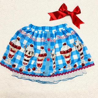 Shirley Temple - シャーリーテンプル パフェ ブルー パンツ付き スカート 青 100cm