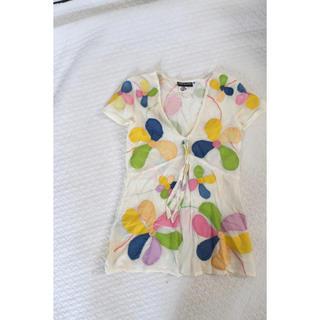 アンティックバティック(Antik batik)のantik batik お花刺繍 トップス(シャツ/ブラウス(半袖/袖なし))
