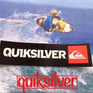 クイックシルバー(QUIKSILVER)のQUIKSILVERクイックシルバーUS限定logoアイコンバナー ステッカー(サーフィン)