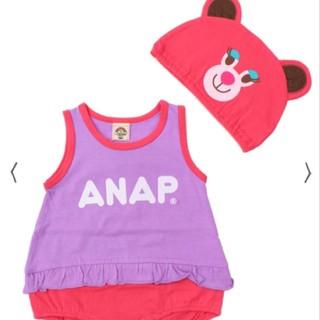 アナップキッズ(ANAP Kids)のANAPkids新品キャラクターロンパース(ロンパース)