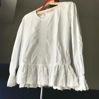 INGEBORG - PH今季カタログ付・送込 インゲボルグ ピンタック裾フリルブラウス ピンクハウス