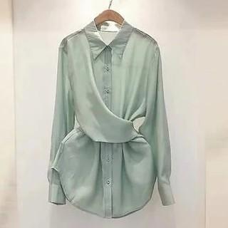 ZARA - バックリボン ねじりシャツ
