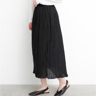 アトリエドゥサボン(l'atelier du savon)の黒 スカート(ひざ丈スカート)