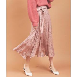31 Sons de mode - ドットサテンフィッシュテールスカート