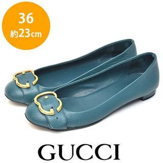 グッチ(Gucci)の美品❤グッチ インターロッキング ダブルG ベルト パンプス 36(約23cm)(ハイヒール/パンプス)