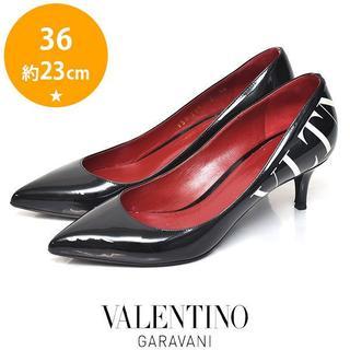 ヴァレンティノガラヴァーニ(valentino garavani)のヴァレンティノ VLTN ロゴ エナメル パンプス 36(約23cm)(ハイヒール/パンプス)