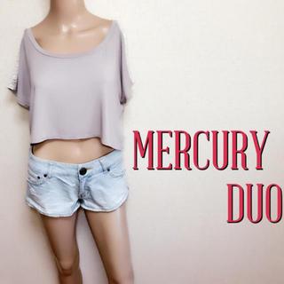 マーキュリーデュオ(MERCURYDUO)のゆるかわ♪マーキュリーデュオ デザインレースカットソー♡ザラ ジルスチュアート(Tシャツ(半袖/袖なし))