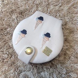 ジェラートピケ(gelato pique)のジェラートピケ コンパクト鏡 アイスクリーム柄(ドレッサー/鏡台)