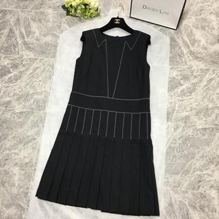 CHANEL - 美品 シャネル CHANEL 襟デザイン ココマーク ドレス  ワンピース