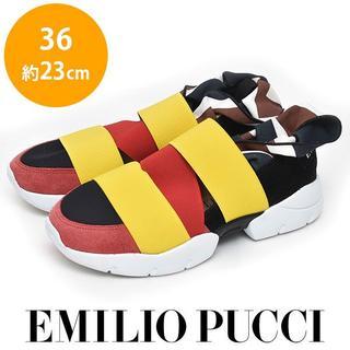 エミリオプッチ(EMILIO PUCCI)の美品❤エミリオプッチ スリッポン スニーカー 36(約23cm)(サンダル)