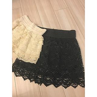 ザラ(ZARA)のレース  スカート  パンツ  セット(ショートパンツ)