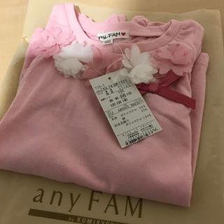 anyFAM - 新品  エニィファム  ピンク  お花  Tシャツ
