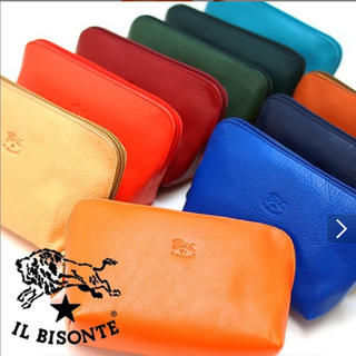 IL BISONTE - イルビゾンテ ポーチ 正規品 新品未使用 タグ付
