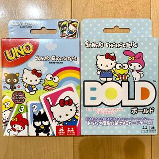 サンリオ(サンリオ)のUNO ウノ BOLD ボールド サンリオ 2個セット 新品、未使用(トランプ/UNO)