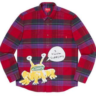 シュプリーム(Supreme)のSupreme Daniel Johnston Plaid Shirt 赤 L(シャツ)