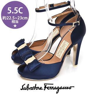 Salvatore Ferragamo - 新品❤サルヴァトーレフェラガモ ヴァラ パンプス 5.5C(約22.5-23cm