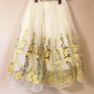 Chesty - chesty ♡ フラワー刺繍スカート
