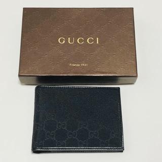 グッチ(Gucci)の新品★グッチ★GUCCI★二つ折り財布★ウォレット★GG柄★ブラックメンズ(折り財布)